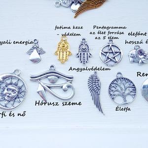 Medál, charm, szimbólum 2, Medál, Nyaklánc, Ékszer, Ékszerkészítés, Válassz medált, kiegészítőt az ékszeredhez. Praktikus delfinkapoccsal bármikor levehető, vagy áttehe..., Meska