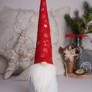 KIÁRUSÍTÁS Karácsonyi gnóm, manó, Dekoráció, Karácsonyi, adventi apróságok, Ünnepi dekoráció, Karácsonyi dekoráció, Varrás, Nálam a karácsonyi dekoráció elmaradhatatlan része ez a pajkos kis manócska, amely egymaga testesít..., Meska