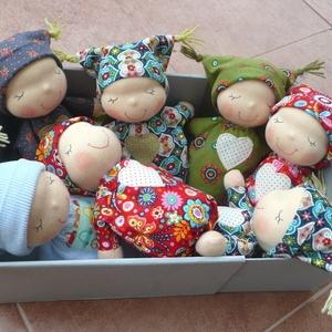 Mini alvó bébi- kék (Aledi) - Meska.hu