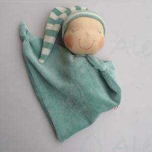 Mini rongyi baba- zöld (Aledi) - Meska.hu