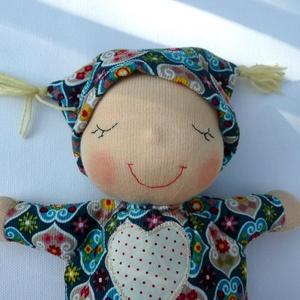 Mini alvó bébi- türkiz mintás (Aledi) - Meska.hu