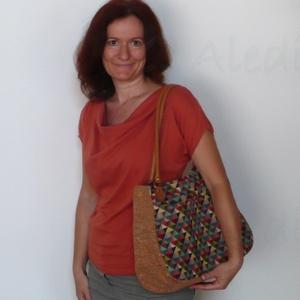 Színes táska bőr füllel (Aledi) - Meska.hu