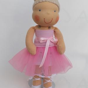 Balerina Waldorf baba rózsaszín tütüben (Aledi) - Meska.hu