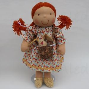 Nyuszis Waldorf baba húsvétra, sárga (Aledi) - Meska.hu