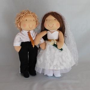 Menyasszony- vőlegény babapár, Otthon & lakás, Esküvő, Gyerek & játék, Dekoráció, Játék, Nászajándék, Több éve ismerősöknek készült az első menyasszony- vőlegény babám. Ők a lakodalmas ház bejáratát dís..., Meska
