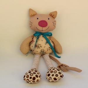 Cica baba szabásminta, DIY (Csináld magad), Szabásminta, útmutató, A képen látható cica baba szabásmintája, részletes leírása. A termék nem egy nyomtatott könyv! Digit..., Meska