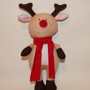Rudolf, a rénszarvas figura, Játék & Gyerek, Plüssállat & Játékfigura, Róka, Baba-és bábkészítés, Varrás, Kb. 30 cm magas, saját tervezésű Rudolf baba.\nMűszállal töltött, kézzel mosható. Arca hímzett.\n..., Meska