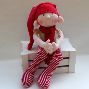 Plüss manó szabásminta, leírás, DIY (leírások), Szabásminta, útmutató, Egy plüss (karácsonyi) manó szabásmintája, útmutatója lépésről lépésre. NEM NYOMTATOTT KÖNYV, hanem ..., Meska