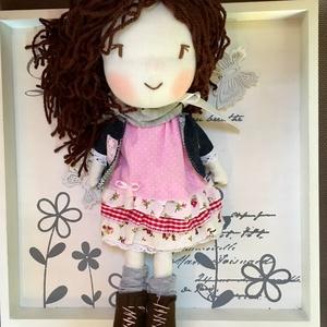 Eliza a felfedező kislány baba, kézműves baba, textilbaba, rongybab (aLencsibaba) - Meska.hu