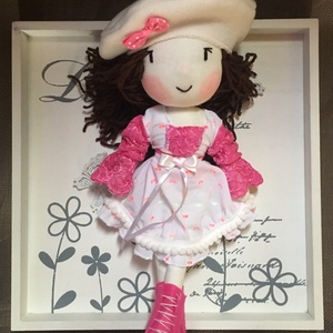 Lídia, a kis hercegnő baba, kézműves baba, textilbaba, rongybaba, Esküvő, Esküvői dekoráció, Gyerek & játék, Játék, Plüssállat, rongyjáték, Játékfigura, Baba-és bábkészítés, Varrás, Lídia, szeret kint a szabadban játszani. Hercegnő létére nagyon eleven kislány, most is arra vágyik,..., Meska
