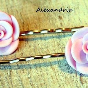 Rózsás hajcsat (Alexandria) - Meska.hu