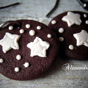 Karácsonyi keksz fülbevaló (Alexandria) - Meska.hu