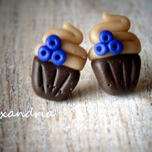 Muffin fülbevaló (Alexandria) - Meska.hu