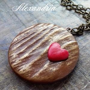 A szerelem fája, Medálos nyaklánc, Nyaklánc, Ékszer, Gyurma, Ékszerkészítés, A kevesebb néha több. Süthető gyurmából készült natúr ékszer. \n\nA medál: 4 cm.\nLánc hossza: 60 cm.\n~..., Meska