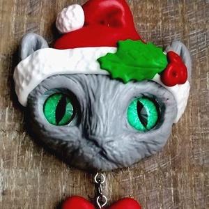 Karácsonyi cicás nyaklánc (Alexandria) - Meska.hu