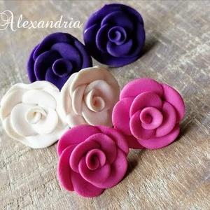 Rózsás fülbevaló csomag  - ékszer - fülbevaló - pötty fülbevaló - Meska.hu