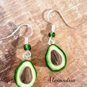 Zöld avokádó füli (Alexandria) - Meska.hu