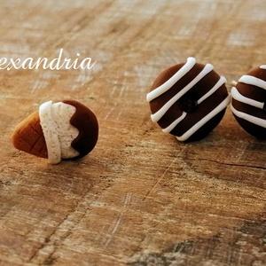 Csoki varázs - ékszer - fülbevaló - pötty fülbevaló - Meska.hu