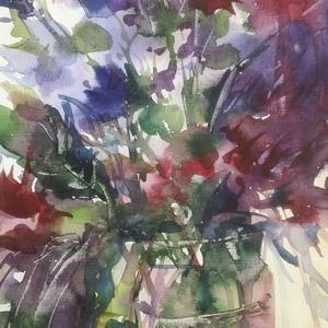 Vadvirágok, 2019, Művészet, Festmény, Akvarell, akvarell, papír, 21 x 29,5 cm, Meska