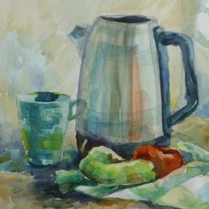 Kitchen Still life, 2020, Művészet, Festmény, Akvarell, Csendélet. Akvarell, papír, 50 x 35 cm, Meska