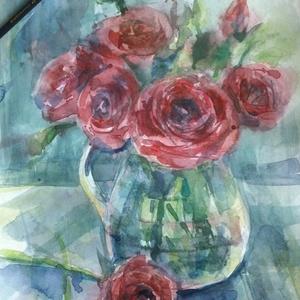 Boglárka (Runanculus), 2021, Művészet, Festmény, Akvarell, Akvarell, papír, 20.5 x 29.5 cm, Meska