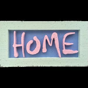 HOME dekorációs tábla hungarocellből, Otthon & Lakás, Dekoráció, Falra akasztható dekor, Festett tárgyak, Mindenmás, Meska