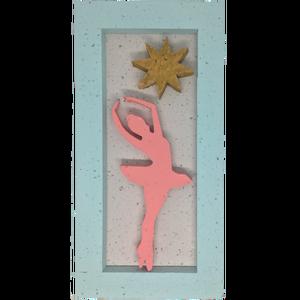 Balerina csillaggal hungarocell kép, Otthon & Lakás, Dekoráció, Falra akasztható dekor, Festett tárgyak, Mindenmás, Meska