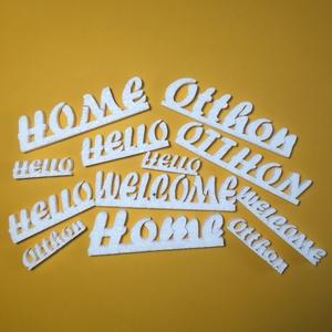 Vegyes hungarocell feliratok, Díszíthető tárgyak, Hungarocell, Mindenmás, 12 darab vegyes hungarocell felirat.\nTartalma:\n1 db HOME felirat (nagybetűvel írott): 13,5x3,5x1cm\n1..., Meska