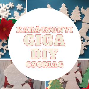 Karácsonyi GIGABOX - hungarocell figurák (120db) - Meska.hu