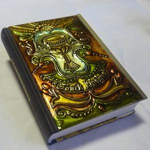 Református énekeskönyv, Otthon & Lakás, Spiritualitás & Vallás, Fémmegmunkálás, Domborított fémmel borítottam a könyvet. Élét óarany fémlemezzel szegélyeztem. Az egészet kopásálló ..., Meska