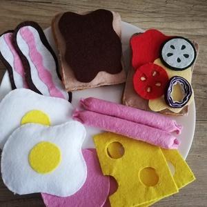 Filc fatányéros szendvicsszett lehetséges kiegészítőkkel, Játék & Gyerek, Szerepjáték, Étvágygerjesztő játék ételek, rossz étvágyú kisgyerekeknek inspiráló :D. Egy megrendelésre készültek..., Meska