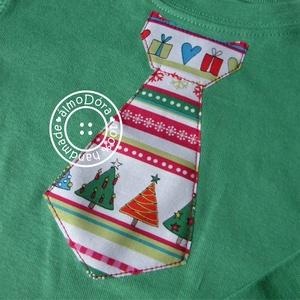 Karácsonyi nyakkendős body vagy póló (almodora) - Meska.hu