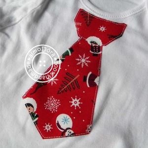 Karácsonyi nyakkendős body vagy póló, Ruha & Divat, Babaruha & Gyerekruha, Body, Igazán kispasis ez a nyakkendős álomRuci! Ezúttal karácsonyi mintás anyagokból.   Természetesen kész..., Meska