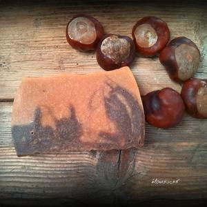 Vadgesztenyés szappan kecsketejjel és shea vajjal, Szépségápolás, Szappan, Szappan & Fürdés, Összetétel: olívaolaj, kókuszolaj, napraforgó olaj, kakaóvaj, vadgesztenye főzet, kecsketej, lúg, va..., Meska