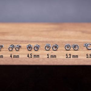 Minimalista apró ezüst karika pötty fülbevaló több méretben, Ékszer, Fülbevaló, Pötty fülbevaló, Ékszerkészítés, Ötvös, Több méretben elérhető apró ezüst karika fülbevalók a minimalista design kedvelőinek. \n\nA méretek és..., Meska