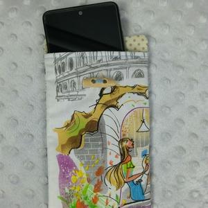 Telefontok - Róma, Táska & Tok, Pénztárca & Más tok, Telefontok, Varrás, Tavaszi kiárusítás!\n\nFelülről bújtatható telefontok, vasalható közbéléssel, hogy a táskádban és azon..., Meska