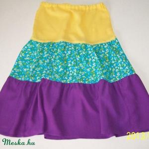 háromszínű fodros szoknya (aMatulaikrek) - Meska.hu