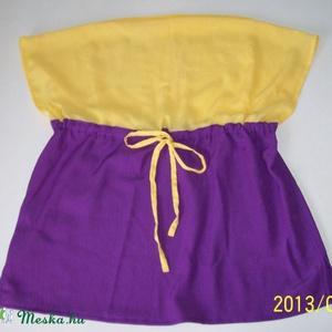 Lila-sárga blúz (aMatulaikrek) - Meska.hu
