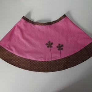 Pöttyös-virágos rózsaszín szoknya (aMatulaikrek) - Meska.hu