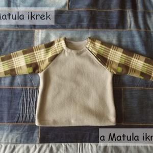 Gyerek polár pulóver, raglán ujjú, cipzáras nyakú, meleg pulcsi (aMatulaikrek) - Meska.hu