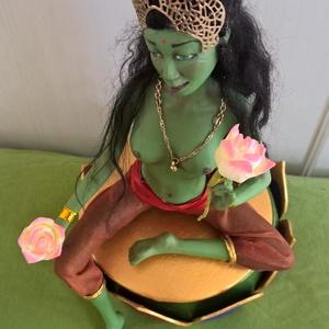 Zöld Tara szobor (Ambroosia) - Meska.hu