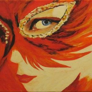Velencei Karnevál, Művészet, Festmény, Akril, Festett tárgyak, Festészet, Az egyik legismertebb karneváli helyszín Velence, ahol hagyományosan álarcot, maszkokat viselnek az ..., Meska