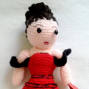 Rosita, a flamenco táncosnő - horgolt baba, Baba, Baba & babaház, Játék & Gyerek, Horgolás, Andalúzia és a szenvedélyes spanyol kultúra ihlette meg Rositát, aki ízig-vérig flamenco táncosnő. E..., Meska