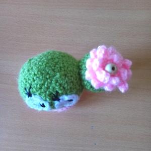 vidám horgolt cserepes kaktusz - játék & gyerek - plüssállat & játékfigura - más figura - Meska.hu