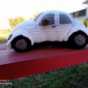 VW bogár horgolt autó, Játék & Gyerek, Plüssállat & Játékfigura, Autó & Motor, Horgolás, Ezt a VW bogár fehér autót horgolással készítettem.\nNagyon strapabíró, ezért nem csak bogárhátú rajo..., Meska