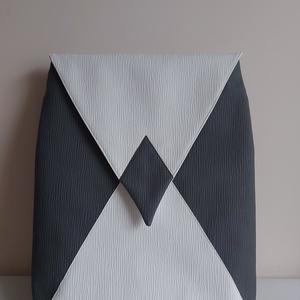 Design hátizsák, Táska & Tok, Hátizsák, Hátizsák, Varrás, Fonott mintás textilbőrből készült nagy méretű hátizsák.Táskamerevítővel bélelve  jó tartás érdekébe..., Meska