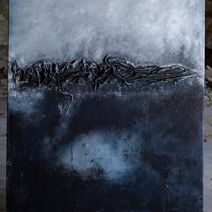 Absztrakt festmény, Otthon & lakás, Lakberendezés, Falikép, Festészet, Akrilfestékkel, és némi paverpol technikával készült  3d -sabsztrakt festmény. \nA kép készültekor-mi..., Meska
