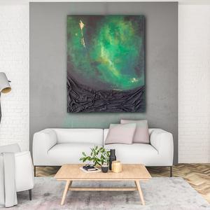 Absztrakt festmény, Akril, Festmény, Művészet, Festészet, Címe: Mesél az erdő\n3d hatású festmény, mely akril festékkel, és némi paverpol technikával készült. ..., Meska