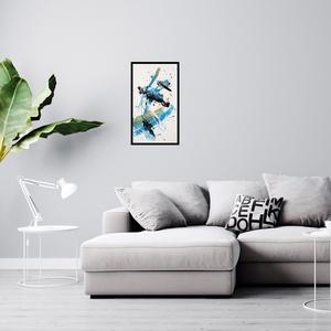 Modern, absztrakt festmény, Akril, Festmény, Művészet, Festészet, Eredeti, kézzel készített absztrakt festmény, feszített vásznon. A festmény keretezetlen állapotban ..., Meska