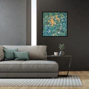 Absztrakt festmény, Művészet, Festmény, Festészet, Akril festékkel készült absztrakt festmény.\nMérete: 60x60 cm 2cm-es vastagságú feszített vásznon.\n..., Meska